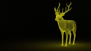 Artistic Deer 3840x2160 Wallpaper