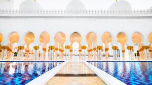 Religious Sheikh Zayed Grand Mosque 3549x2254 wallpaper