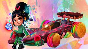 Wreck It Ralph Vanellope Von Schweetz Candy Car Kart Lollipop 1500x971 Wallpaper