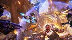 Hanzo Overwatch Mercy Overwatch Pharah Overwatch Tracer Overwatch Widowmaker Overwatch Winston Overw 3439x1439 Wallpaper