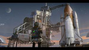 Novelance Anime Girls Rocket Planet Space Shuttle 1725x800 Wallpaper