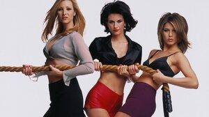 Courteney Cox Jennifer Aniston Lisa Kudrow Monica Geller Phoebe Buffay Rachel Green 1920x1080 Wallpaper