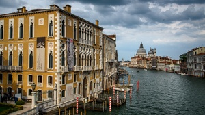 Cathedral Santa Maria Della Salute Grand Canal Italy Venice 3072x2051 Wallpaper