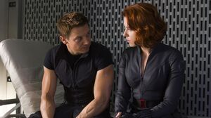 Black Widow Hawkeye Jeremy Renner Natasha Romanoff Scarlett Johansson 1920x1280 Wallpaper