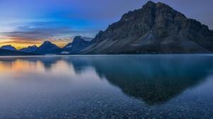 Banff National Park Canada Lake Mountain Nature Reflection 3238x2161 Wallpaper