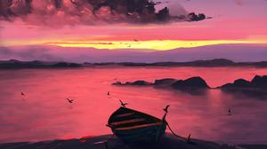 Boat 5120x2880 Wallpaper