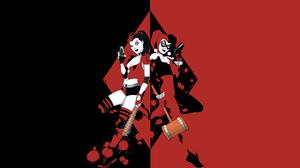 Harley Quinn DC Comics Comics Black Red 3840x2160 Wallpaper
