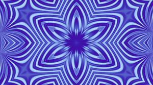 Abstract Artistic Blue Digital Art Kaleidoscope Pattern 1920x1080 Wallpaper