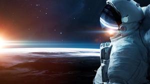 Astronaut Space Suit Space Planetscape Sunrise Stars 5200x3250 Wallpaper