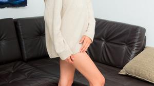 Women Model Latinas Brunette Long Hair Feet Barefoot Women Indoors Legs Tiptoe Standing Sweater Dres 1280x1920 Wallpaper