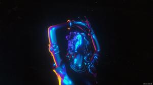 Cinema 4D 3D Abstract Cyberpunk 3D Graphics Tech Statue 3840x2160 Wallpaper