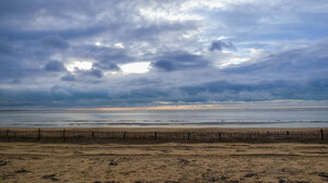 Nature Landscape Sea Sky Clouds Beach Sand 1920x1080 Wallpaper