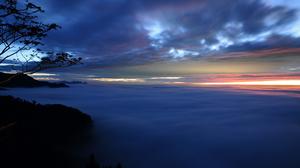 Cloud Fog Scenic Sunset 1920x1200 Wallpaper