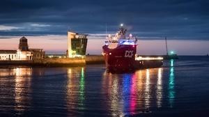 Scotland Aberdeen City Harbor Ship Vehicle 2047x1168 Wallpaper