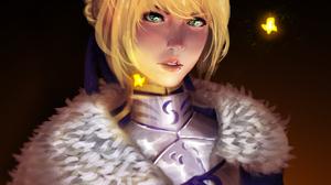 Saber Fate Series Anime Girls Illustration Artoria Pendragon Artwork Gus Piglet Blonde Green Eyes Ca 3200x4000 wallpaper