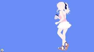 Camera Charlotte Anime Girl Minimalist Nao Tomori Skirt White Hair 3840x2160 Wallpaper