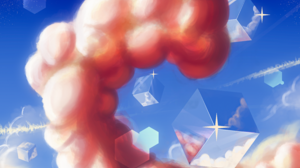 Clouds Cube 3D Blocks 3000x2800 Wallpaper