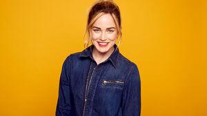 Actress American Blonde Blue Eyes Caity Lotz Face Lipstick Smile 2048x1365 Wallpaper