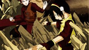 Avatar The Last Airbender Black Hair Gaara Naruto Naruto Red Hair Toph Beifong 1600x1200 Wallpaper