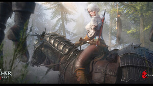 Ciri Ciri The Witcher Cirilla Cirilla Fiona Elen Riannon Horse The Witcher 3 Wild Hunt Video Games V 1920x860 wallpaper