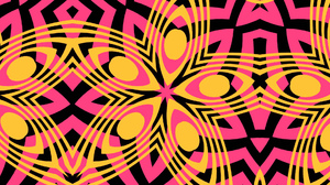 Abstract Artistic Colorful Colors Digital Art Kaleidoscope Pattern Pink Yellow 1920x1080 Wallpaper