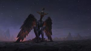 Creepy Wings 2560x1440 Wallpaper