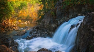 Adirondack Park Fall Usa Waterfall 2048x1304 Wallpaper
