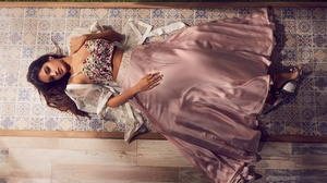 Indian Actress Bollywood Brunette Lying Down 2800x1867 Wallpaper