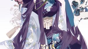 Miyuki Anime Anime Girls Portrait Display Kimono 3826x5078 Wallpaper
