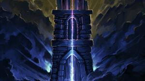 Gustavo Arteaga Digital Art Fantasy Art Wizard Tower Clouds Magic 1891x2607 Wallpaper