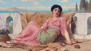 Artwork Painting Greek Greece Classic Art Women Turtle Fruit Pink 1600x1057 Wallpaper