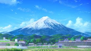 Landscape Artwork Mountains Snow Caps Sky Mount Fuji 1500x1060 wallpaper