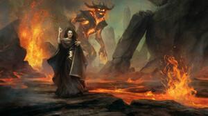 Fire Giant Sorceress 1920x1080 Wallpaper