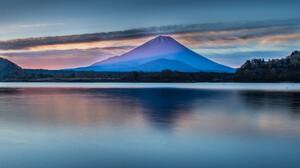 Japan Lake Landscape Mount Fuji Mountain Reflection Sky 2048x1365 Wallpaper