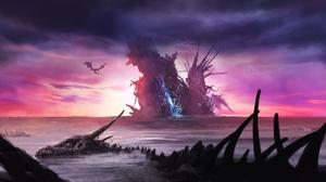 Fantasy Dragon 1920x1183 wallpaper