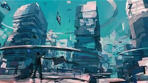 City 3480x1806 wallpaper