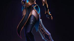 Warcraft World Of Warcraft Blizzard Entertainment Women Fantasy Girl Redhead Elf Ears Blue Eyes Swor 1920x3032 Wallpaper