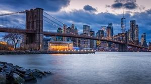 Bridge City Building New York Usa Skyscraper 5372x3218 Wallpaper