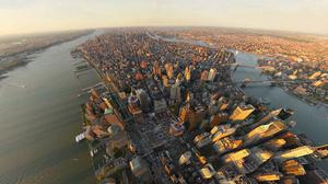 Aerial Building City Cityscape Horizon New York Skyscraper Usa 1920x1200 Wallpaper
