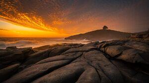 Landscape Shore Nature Rocks Sky Sunset Clouds 2048x1366 Wallpaper