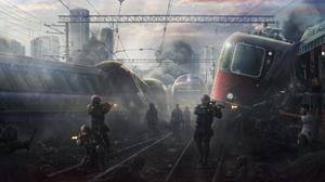 Soldier Undead Zombie 2233x1080 wallpaper