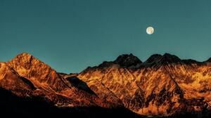 Landscape Mountains Moon South Tyrol 5472x3648 wallpaper
