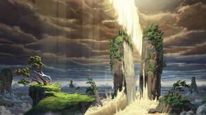 HUHSOO Digital Art Fantasy Art Sword Landscape 1920x976 Wallpaper