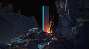 Fantasy Art Artwork Digital Art Science Fiction Monolith 2700x1485 Wallpaper