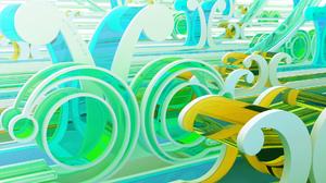 3d Abstract Cgi Digital Art Green 1920x1200 Wallpaper