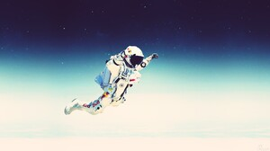 Jump Skydiving Felix Baumgartner Red Bull 1920x1080 Wallpaper