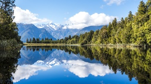 Cloud Lake Mountain Nature Reflection Sky Tree 6016x4016 Wallpaper