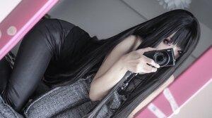 Japanese Women Camera Asian 2048x1366 Wallpaper