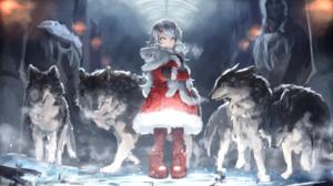 Wolf Aqua Eyes Grey Hair Stuffed Animal Coat Winter Snow 1937x1080 wallpaper