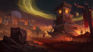Landscape Digital Art Forange Battle Artwork Warcraft Warcraft Iii World Of Warcraft 3840x2160 Wallpaper